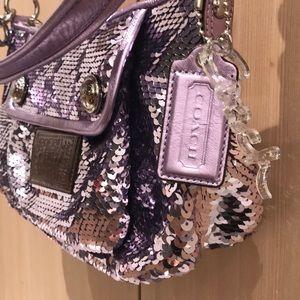 RARE Unique Lavender Coach Poppy Sequin Bag